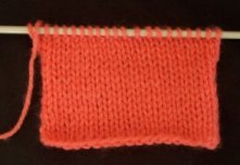Stocking stitch knitting