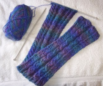 Aran Eyelet Knit Scarf   Knitting Bee