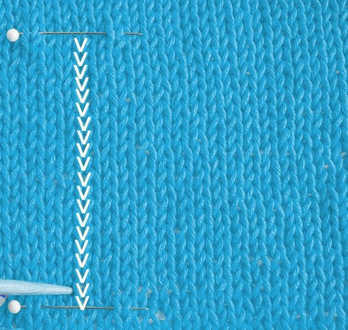 Checking knitting tension counting rows