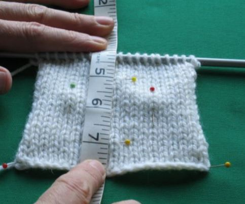 Checking Knitting Tension or Gauge