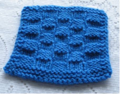 Simple checkerboard coaster knitting pattern
