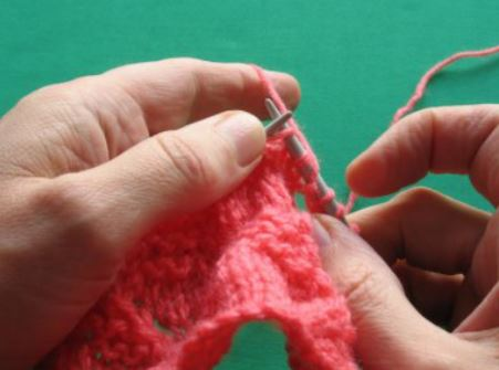 Slip second stitch knitwise.